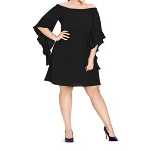 City Chic Juliet Off-The-Shoulder Party Dress NWT